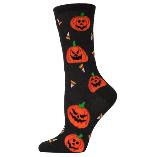 Pumpkin and Candy Corn Socks