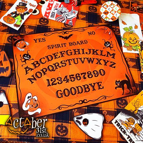 Vintage Halloween Inspired Small Tin Spirit Board