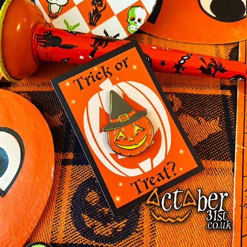 Witch Pumpkin Enamel Pin
