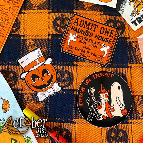 Vintage Halloween Inspired Stickers