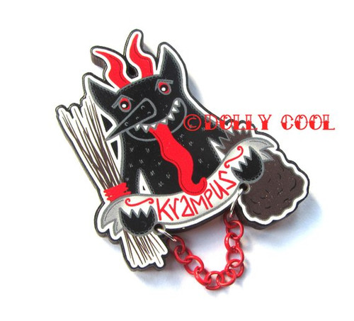 Krampus Brooch by Dolly Cool