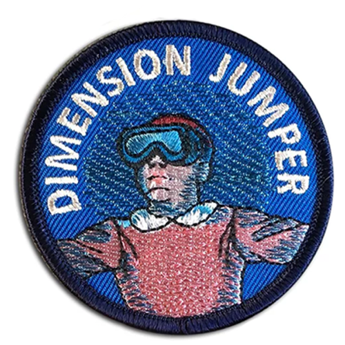Dimension Jumper Patch from Two Ghouls Press