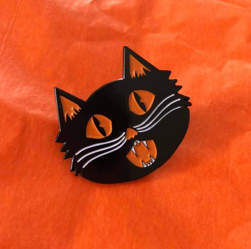 Shrieking Cat Enamel Pin from October 31st