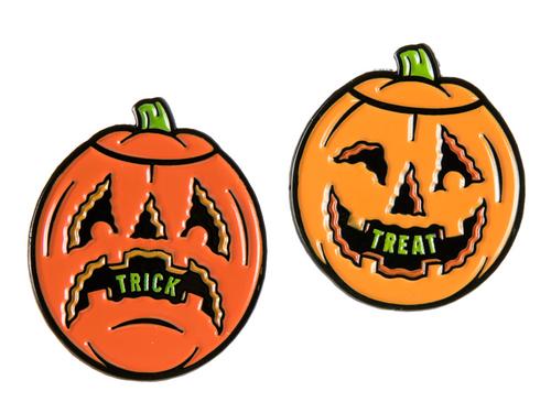 Dumb Junk Pumpkin Enamel pin set