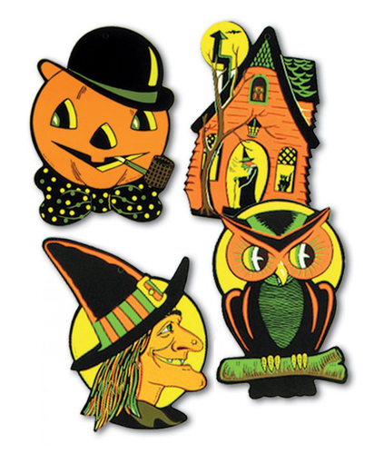 Set of 4 Halloween Cutouts from Beistle (Set 1)