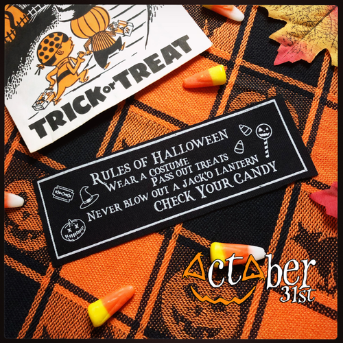 Rules of Halloween Stitch-on Patch