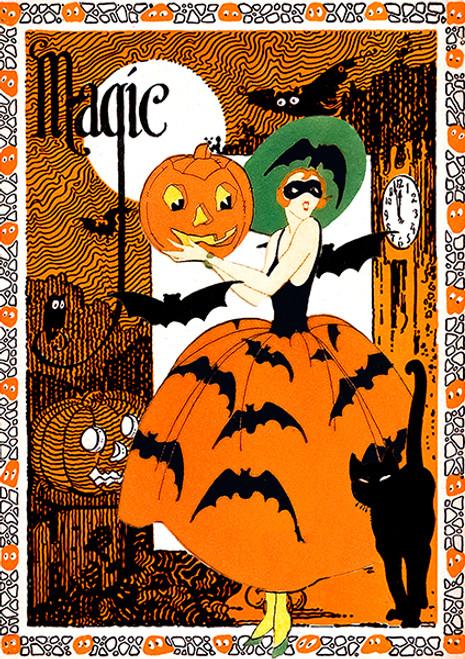 Magic Halloween Card