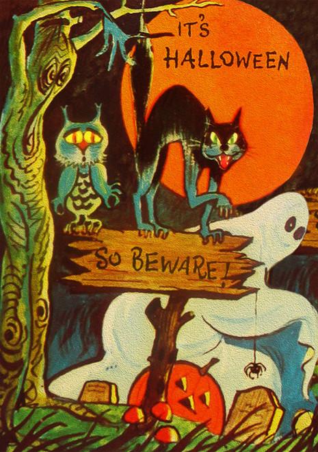 It's Halloween So Beware Halloween Card