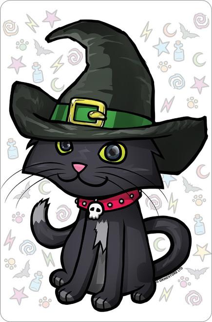 Witches Kitten Halloween Mini Tin Sign