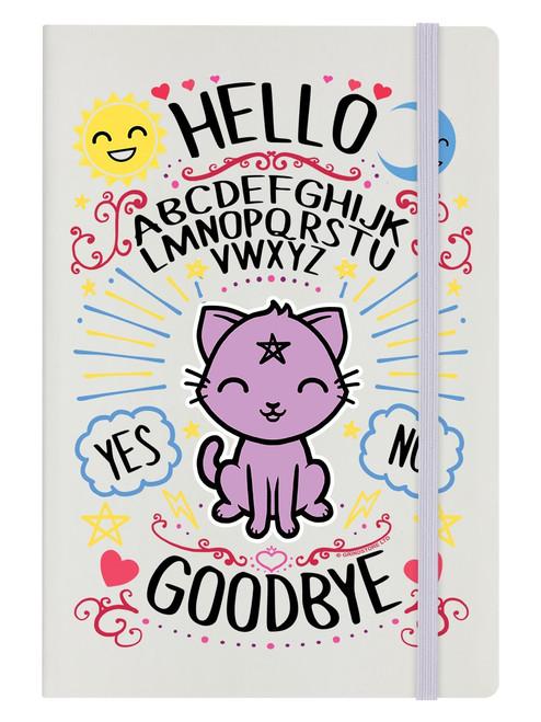 Kawaii Ouija Cream A5 Hard Cover Notebook
