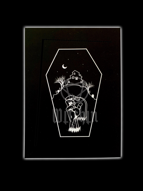 Night Of The Living Dead Print from Witchin