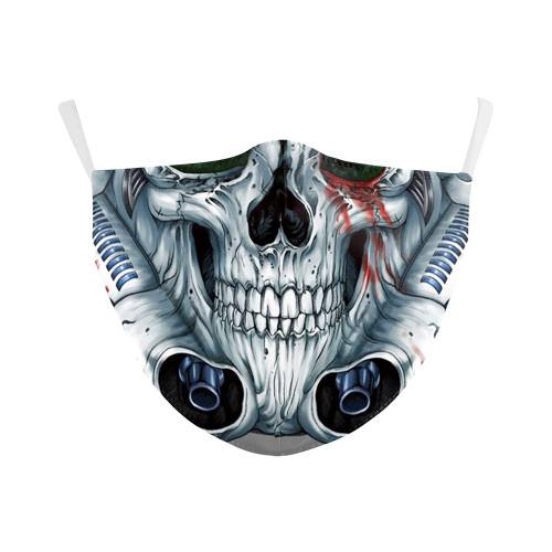 Mechanical Skull Reusable Face Mask