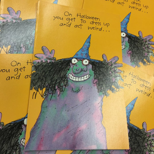 Cheeky Witch Halloween Card