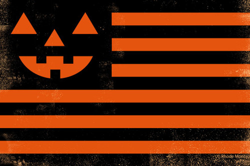United Halloween Flag signed print from Rhode Montijo
