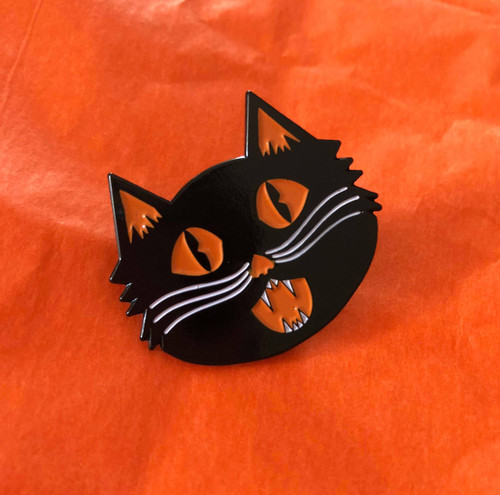 Shrieking Cat Enamel Pin from October 31st