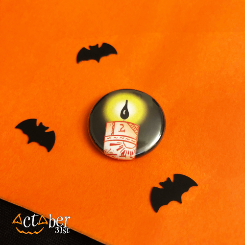 Black Flame Candle Badge