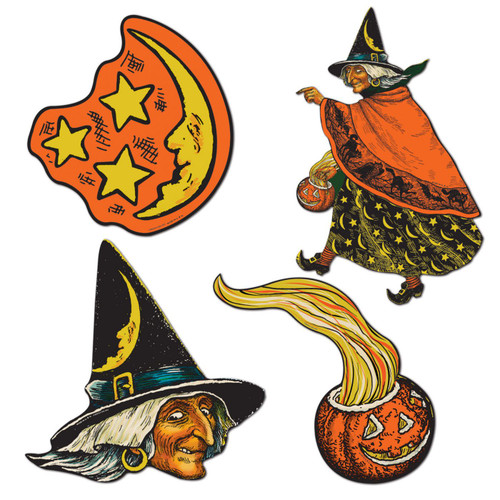 Halloween Witch Cutouts from Beistle