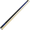 Dakota Pool Cue - Blueburst Finish with Black Leather Stack Wrap