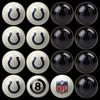 Indianapolis Colts Pool Balls