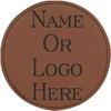 Leatherette Coaster Set of Six Round w/Holder - Rawhide