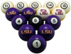 LSU Tigers Numbered Billiard Ball Set