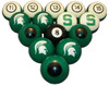 Michigan State Spartans Numbered Billiard Ball Set