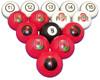 Ohio State Buckeyes Numbered Billiard Ball Set