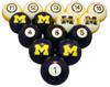 Michigan Wolverines Numbered Billiard Ball Set