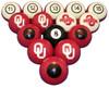 Oklahoma Sooners Numbered Billiard Ball Set