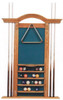 6 Cue Arch Top Wall Rack