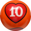 Crown Poker Games - Individual 10 of Hearts Ball