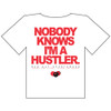 """Not A Hustler"" Plain T-Shirt, White"