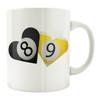8 & 9-Ball Hearts 11oz. Coffee Mug