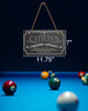 "Billiard Room Custom Personalized Slate Sign Plaque 11.75"" x 7"""
