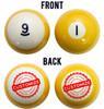Custom Personalized Billiard Ball Set