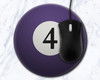 Four Ball 8 inch Round Mousepad