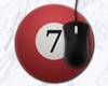 Seven Ball 8 inch Round Mousepad