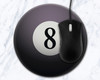 Eight Ball 8 inch Round Mousepad