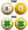 Four Leaf Clover Billiard Ball Set