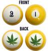 Pot Leaf Billiard Ball Set