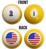 Stars & Stripes American Flag Billiard Ball Set