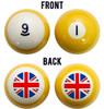 Union Jack Flag Billiard Ball Set