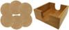 Set of Six Custom Laser Engraved Leatherette Coasters - Round & Light