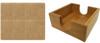 Set of Six Custom Laser Engraved Leatherette Coasters - Square & Light