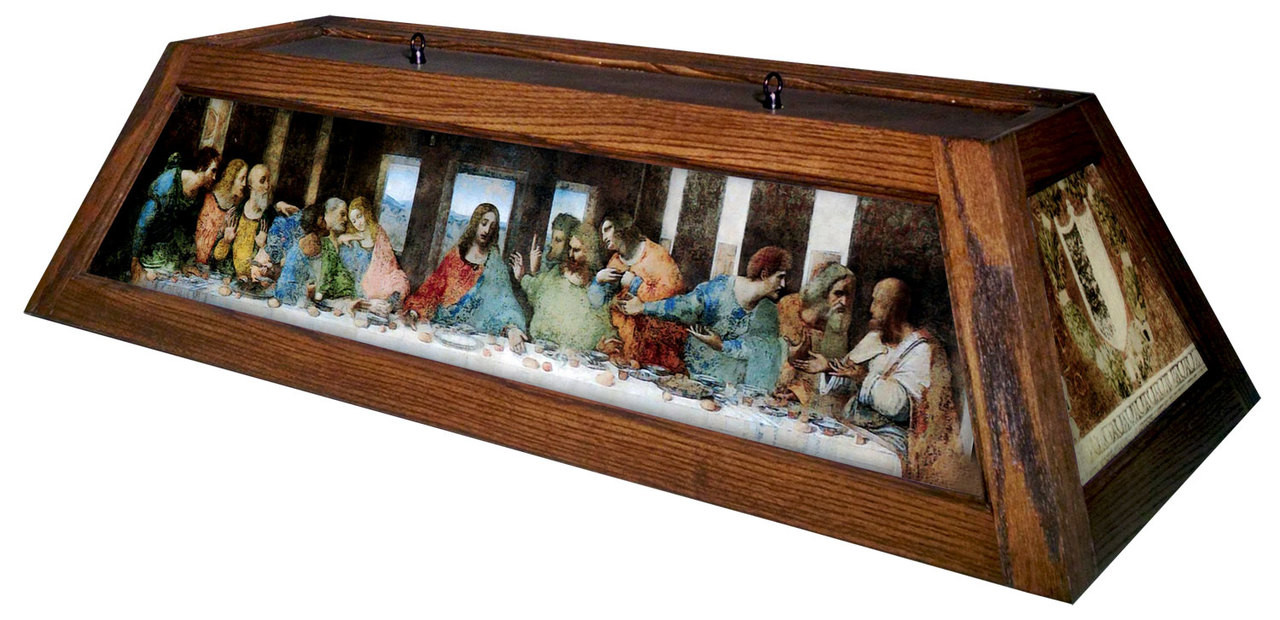 Last Supper Table Light Brown Frame