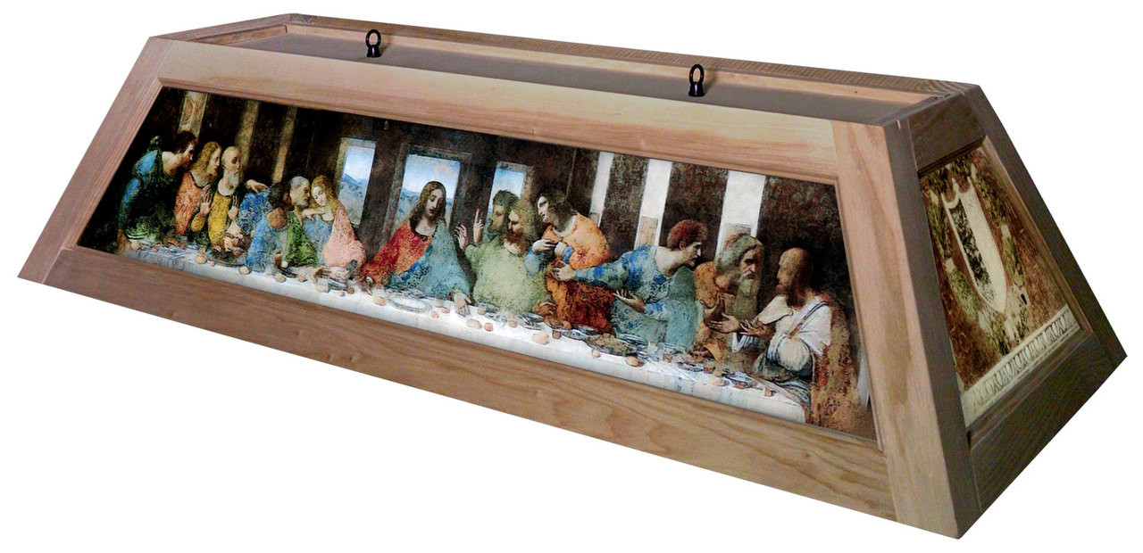 Last Supper Table Light Unstained Frame