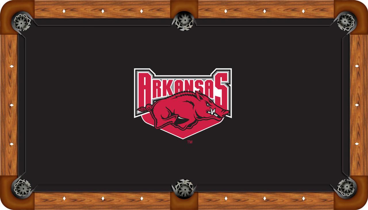 Arkansas Razorbacks 8 foot Custom Pool Table Felt