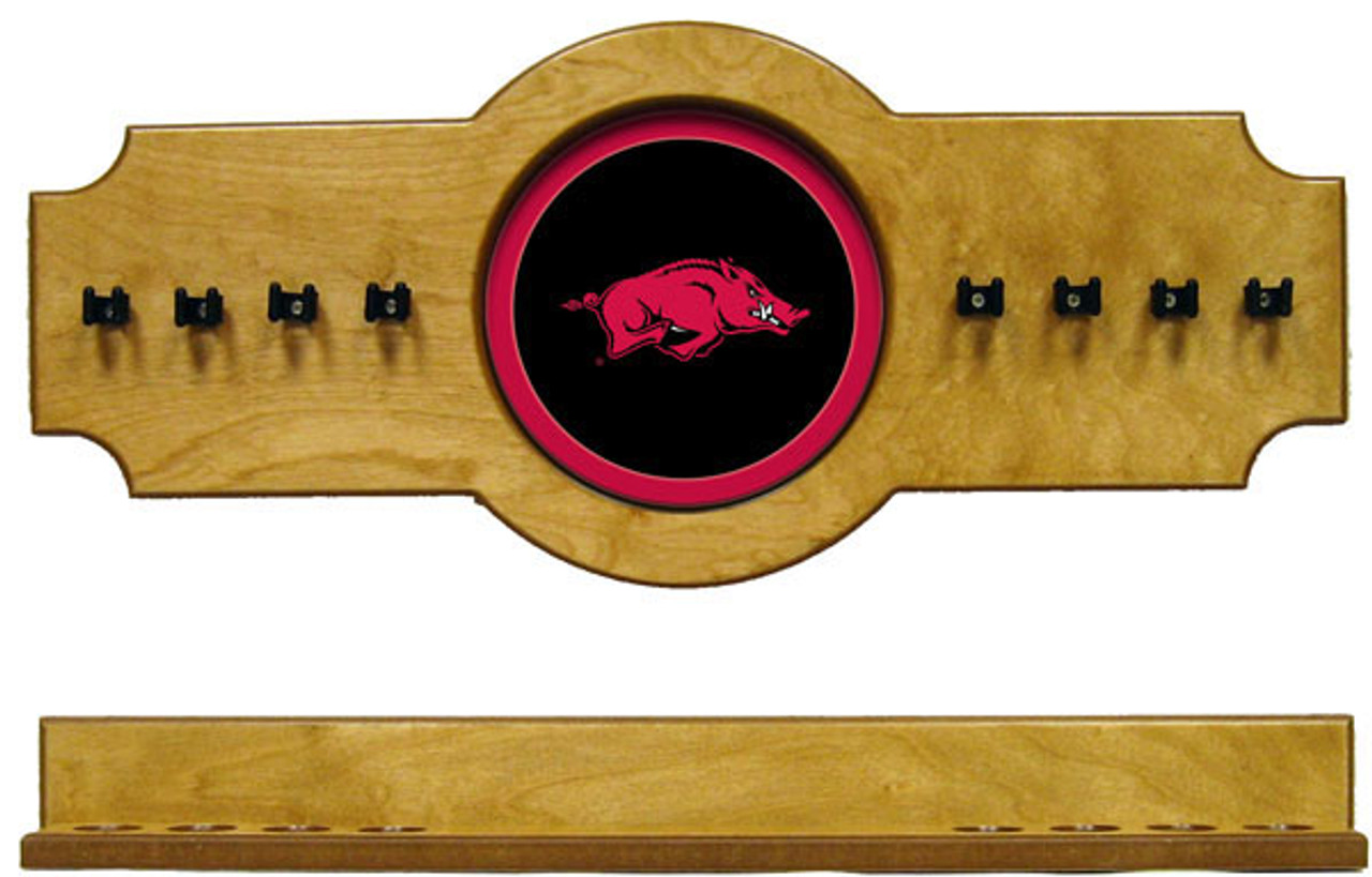 Arkansas Razorbacks 8 Cue Wall Rack