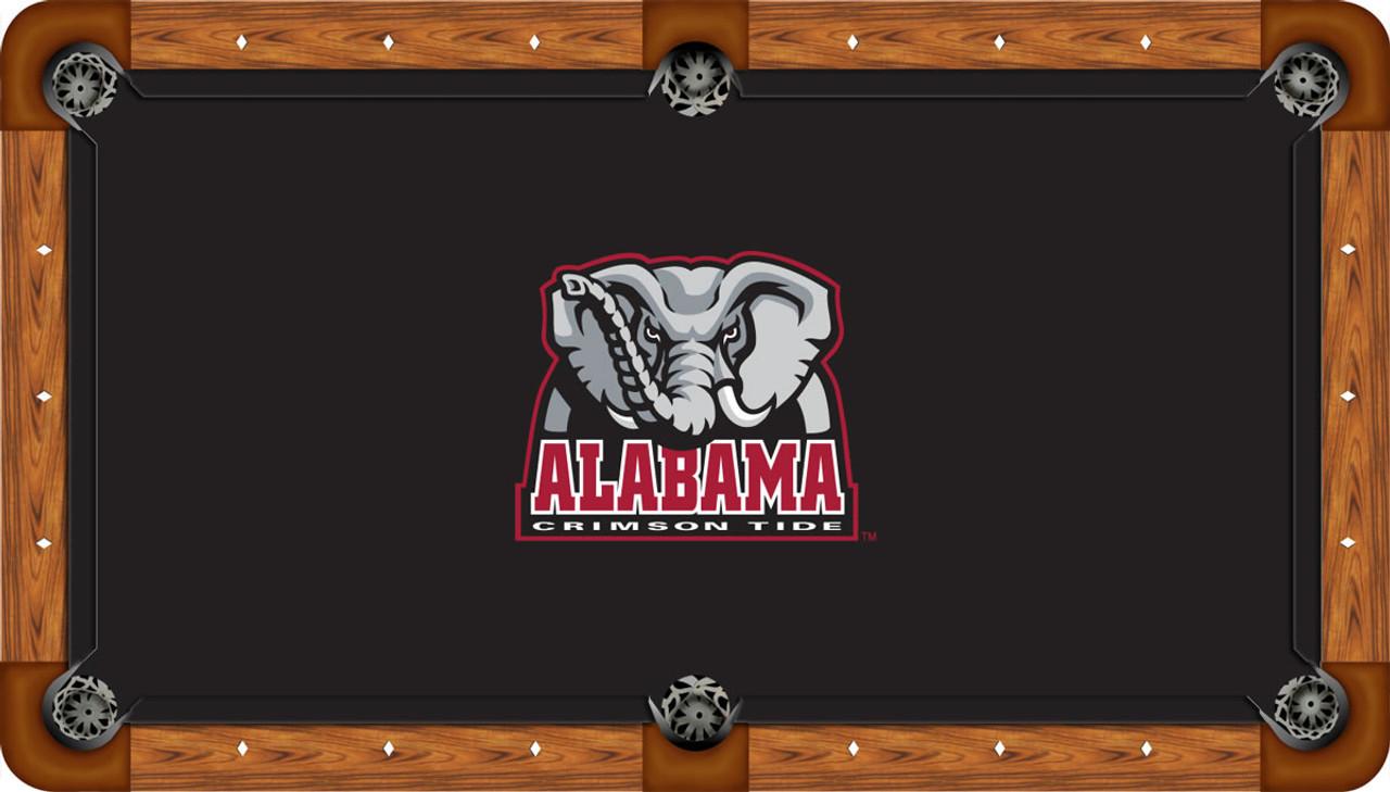 Alabama Crimson Tide 9 foot Custom Pool Table Felt