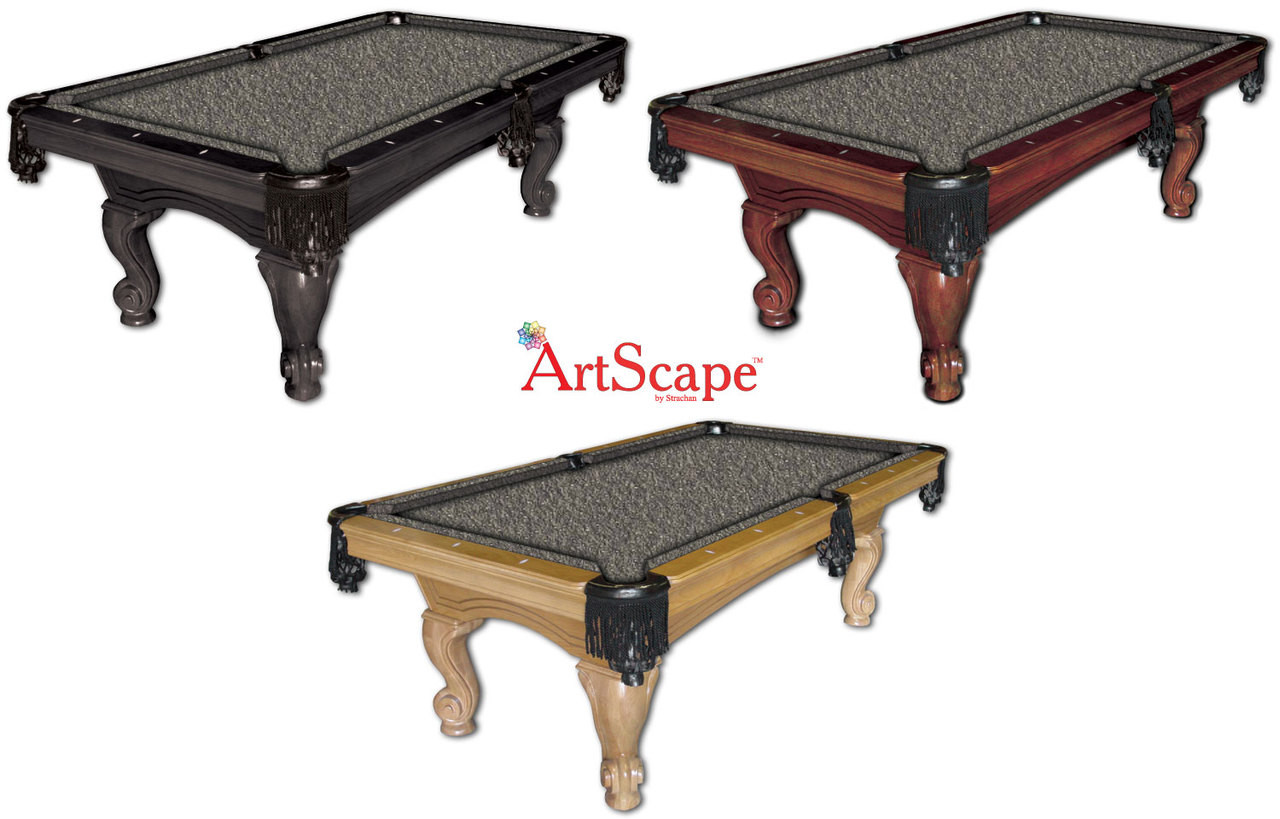 ArtScape Silver Drops Pool Table Cloth
